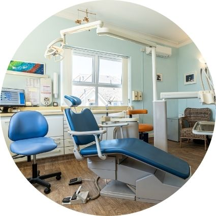 a interior picture of the dental practice chair