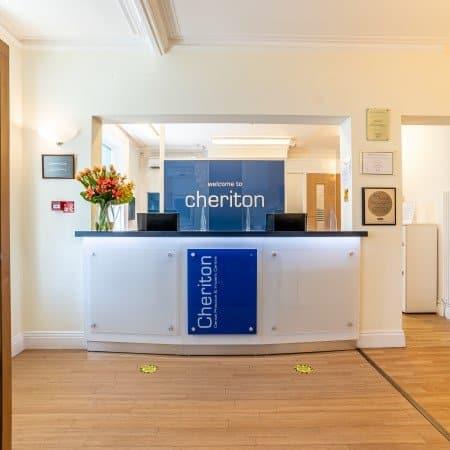 a picture of cheriton dental practice reception area